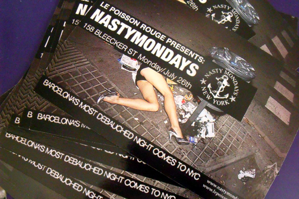 nasty mondays flier new york tchaikovsky darling