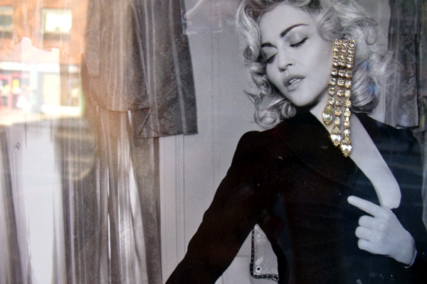 alphabet city boutique jewelry advertising window display lady gaga madonna jewels