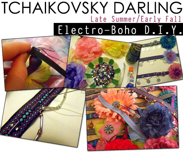 tchaikovsky darling DIY bohemian neon Michelle Christina Larsen