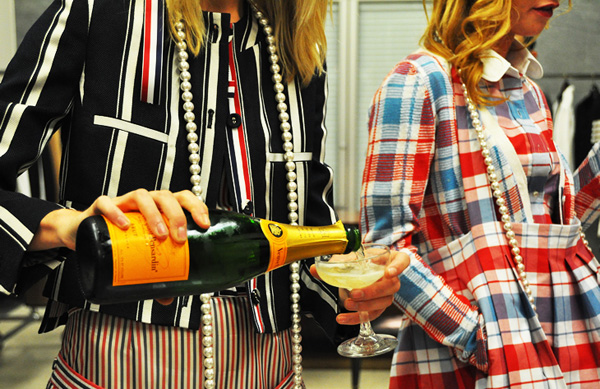 tchaikovsky darling jak and jil thom brown spring 2011 preview holiday champagne