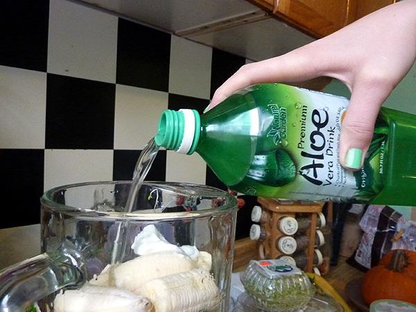 green shake recipe blender smoothie healthy