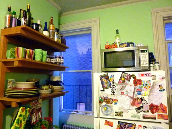 greenpoint brooklyn mint green kitchen railroad