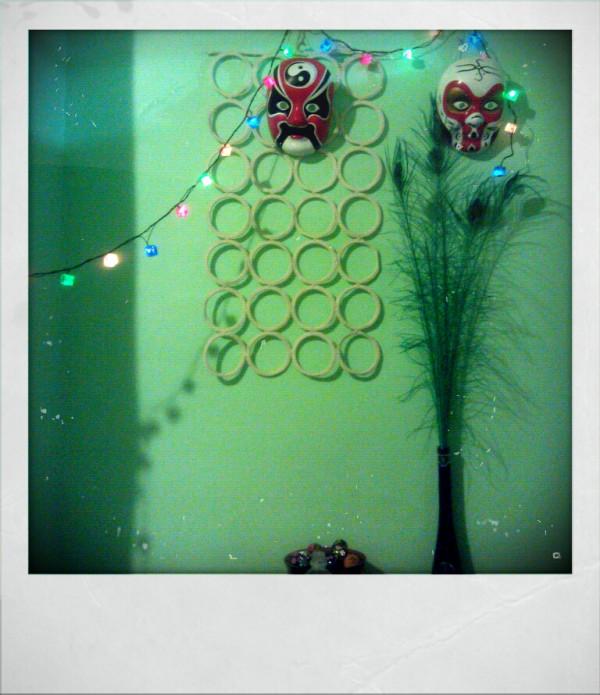 retro polaroid kitchen christmas masks