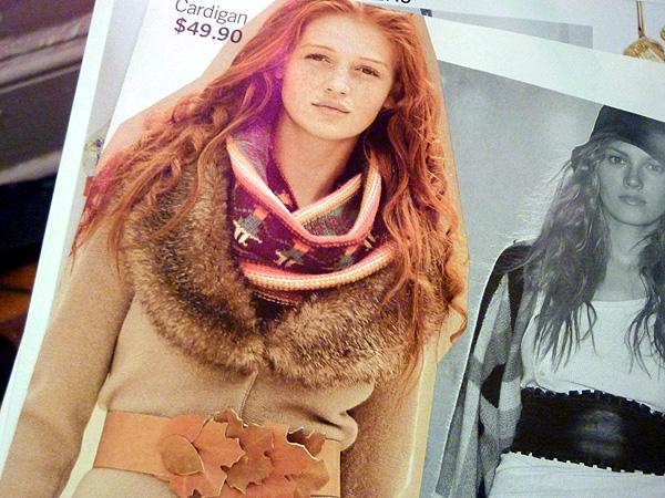 fur H&M boho fall fashion scarf