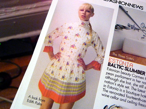 designer dress white pleated magazine