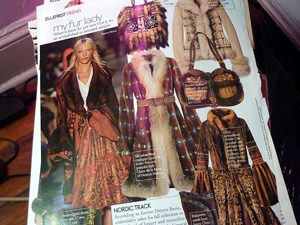 magazine page boho fur winter fashion