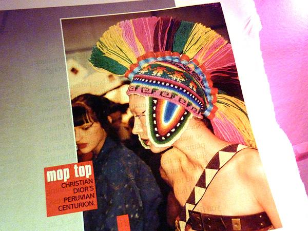 galliano dior peruvian hat