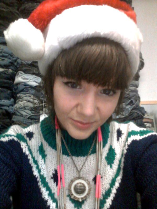 hey mishka santa hat xmas 2011