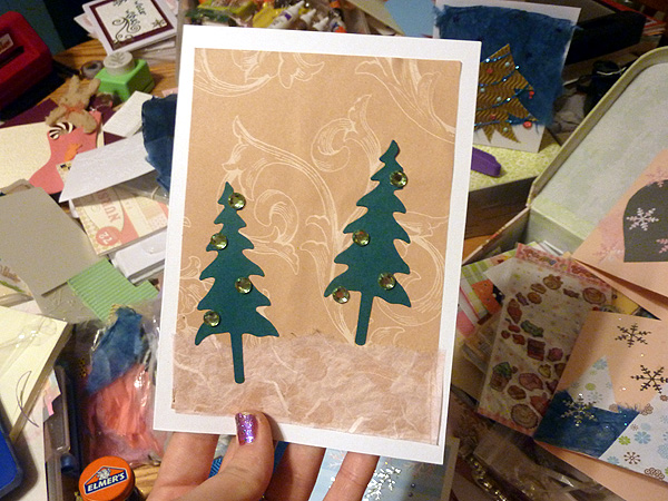 greenpointers craft fair holiday christmas cards handmade 4