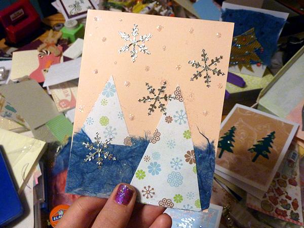 greenpointers craft fair holiday christmas cards handmade 2