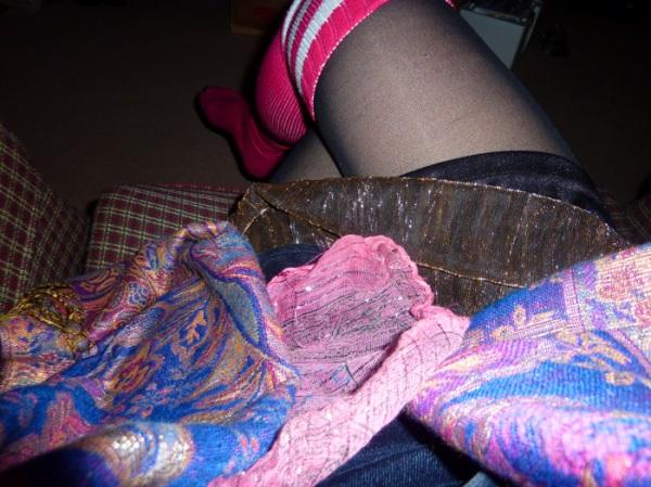 american apparel socks hot pink