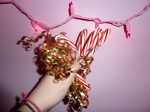 candy canes pink lights