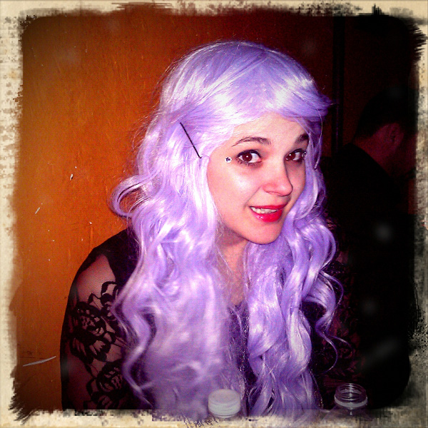 becca is the cutest purple wig
