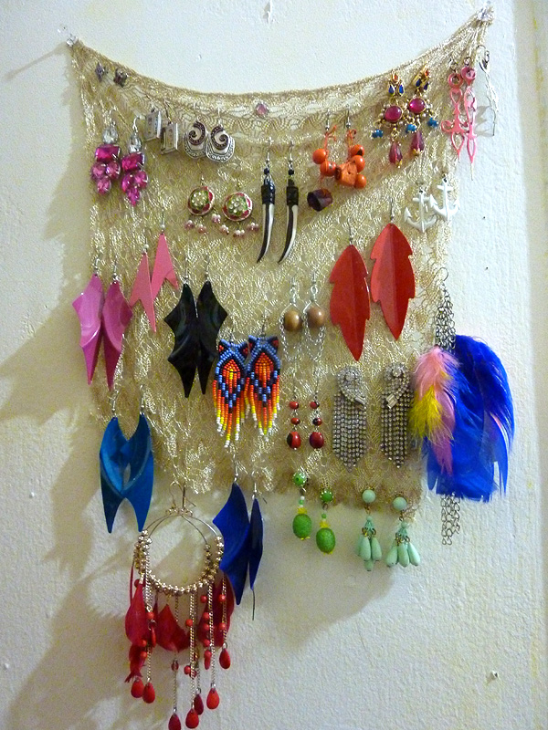 how to organize jewelry earrings diy
