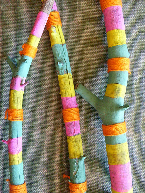 painted sticks diy project tribal boho