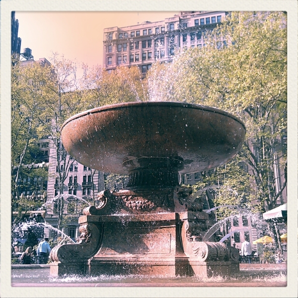 bryant park fountain nyc
