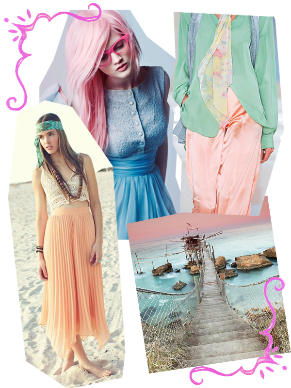 sunset summer pastel sheer fashion