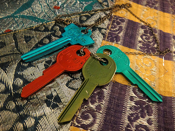 painted keys boho bohemian