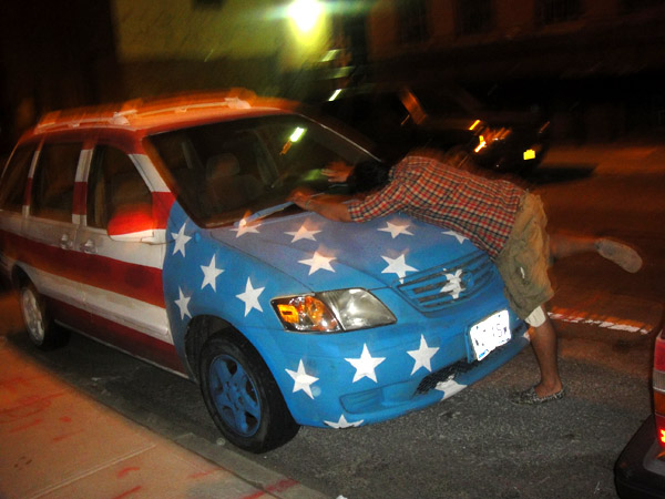 american flag car