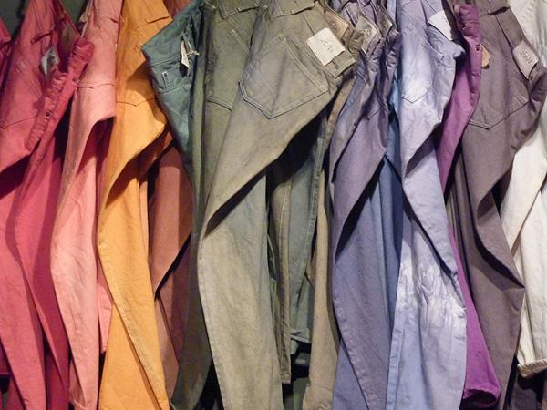 colored denim dip dye diy