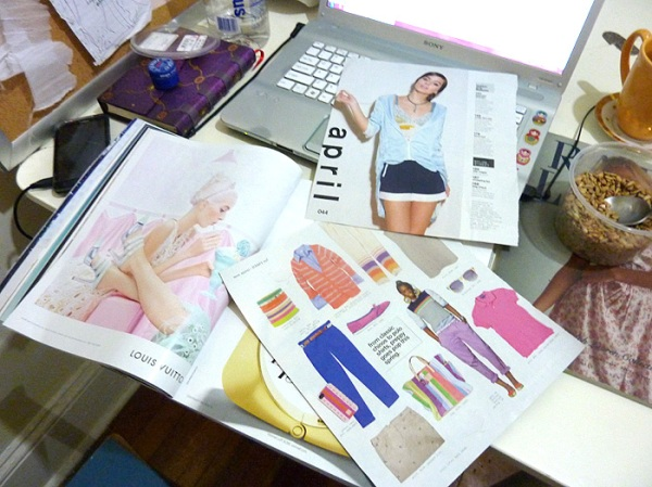 diy scrapbook fashion magazines