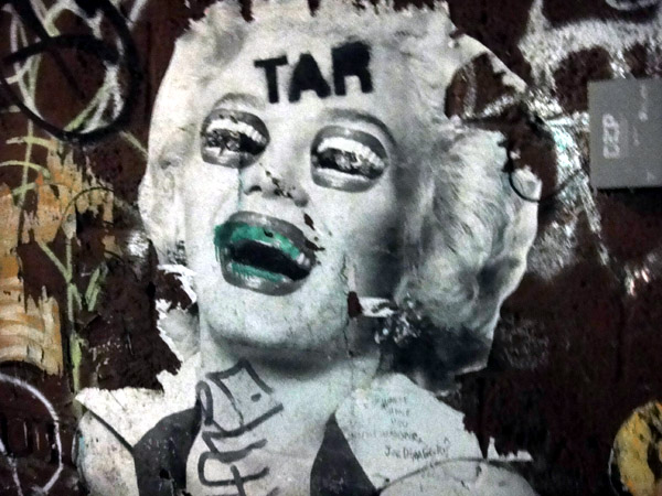 Marilyn Monroe graffiti brooklyn