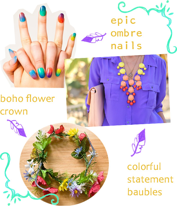 ombre-nails-flower-crowns-trends