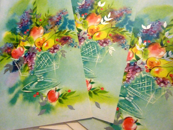 vintage floral greeting cards