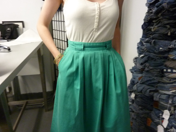 renee green cotton skirt