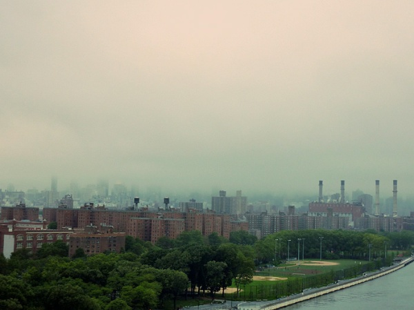 foggy rainy day manhattan
