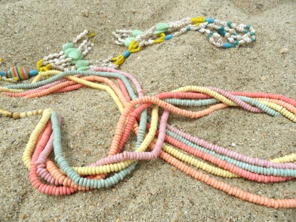 boho beads beach sand