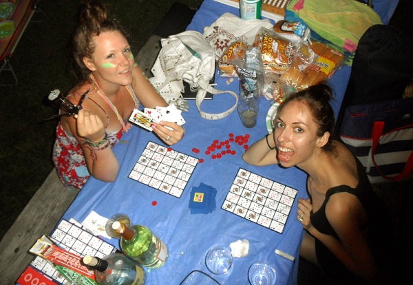 pokeno board games camping summer