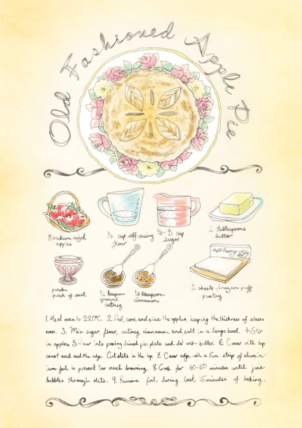 old fashion apple pie recipe