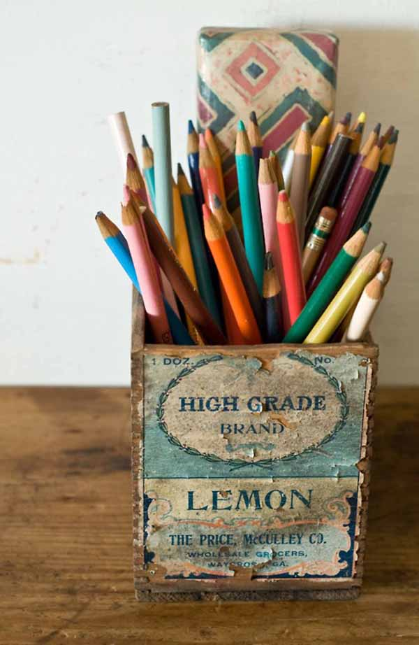 vintage colored pencils