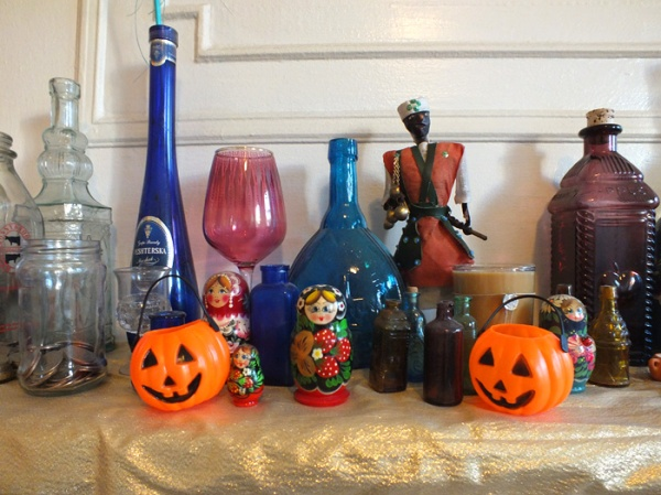 mantel decor halloween interior ideas