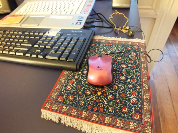 persian carpet rug mouse pad