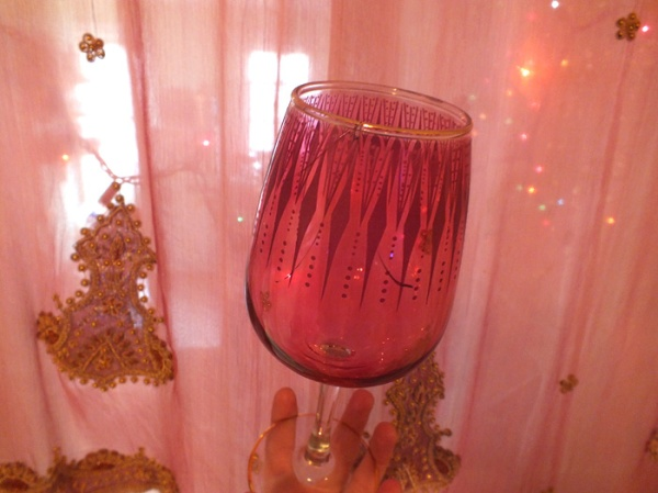 pink wine glass boho moroccan (2)