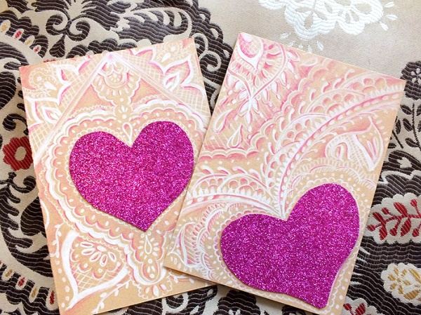 D.I.Y. Handmade Henna x Origami Inspired Valentine's Day Cards (1)
