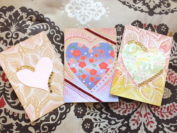D.I.Y. Handmade Henna x Origami Inspired Valentine's Day Cards (9)