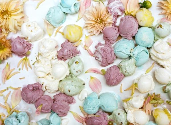 flowers and ice cream