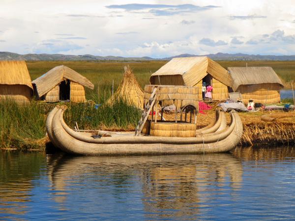 islands of Uros in Peru