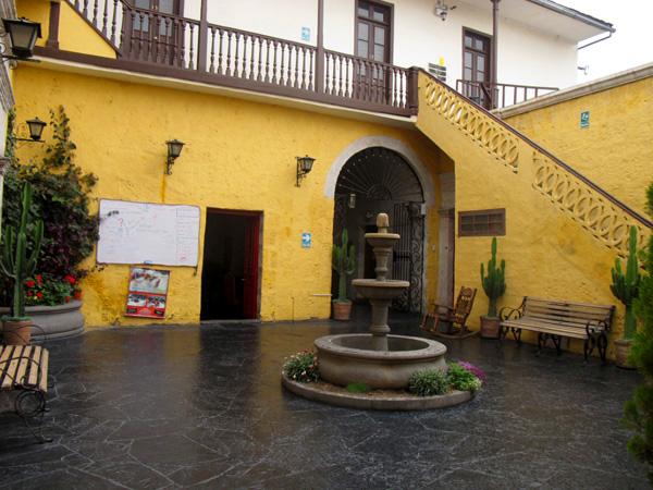 peru south america courtyard yellow walls