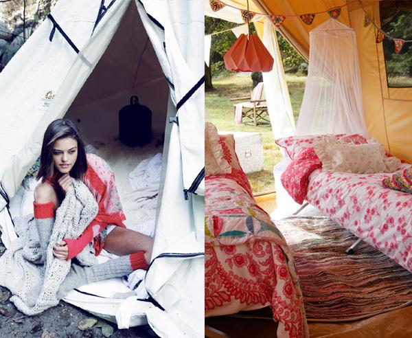 stylish bohemian camping festival inspiration