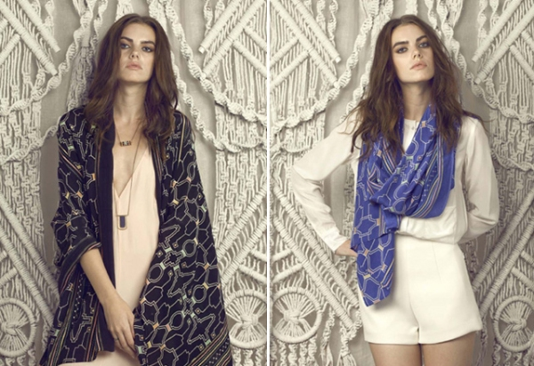 Hand-Printed Natural Fiber Scarves by A Peace Treaty
