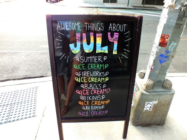 Brooklyn july art ice cream summer