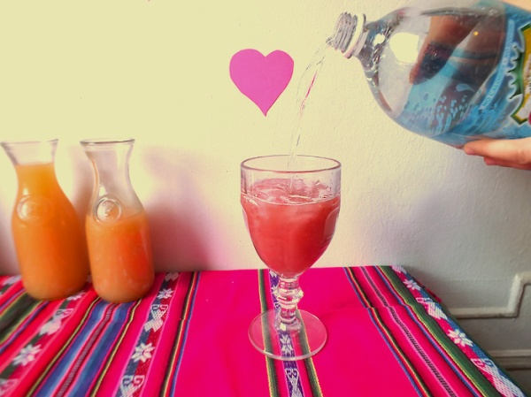 valentine's day cocktail pink drink diy ideas