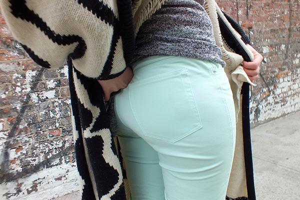 mint green jeans review