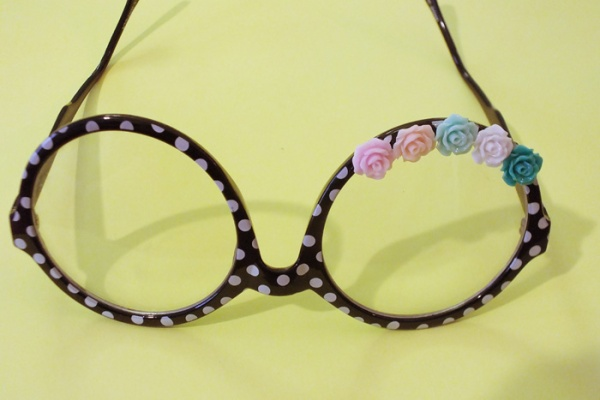 spring floral flower frame glasses diy