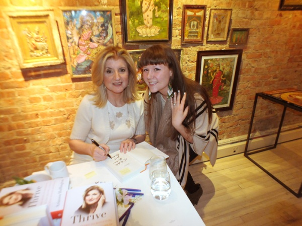 arianna huffington book signing thrive ABC home