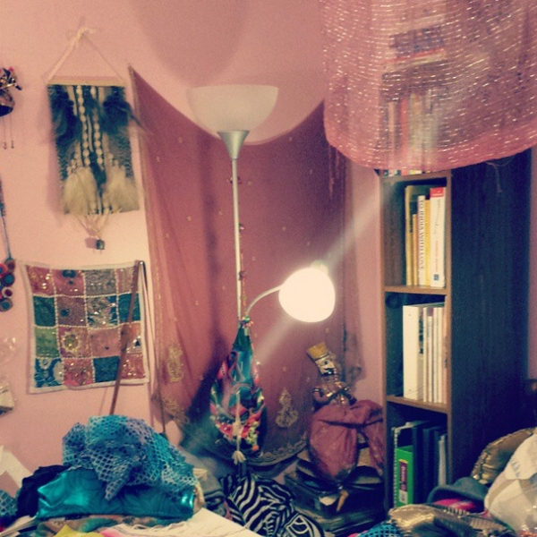 boho bedroom pink walls bohemian